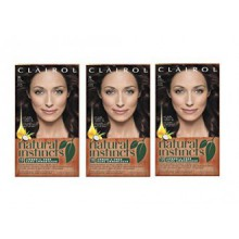 Clairol Natural Instincts  28 Nutmeg Dark Brown 1 Kit  (Pack of 3) (packaging may vary)