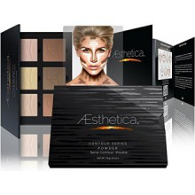 Aesthetica Cosmetics Contour and Highlighting Powder Foundation Palette / Contouring Makeup Kit- Easy-to-Follow,