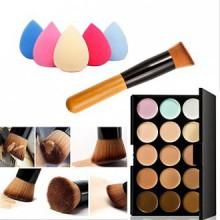Mefeir 15 Colors Professional Concealer Camouflage Makeup Palette Contour Face Contouring Kit + Oblique Head Contour Makeup