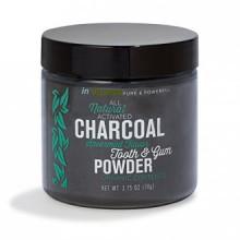 Natural para blanquear los dientes y las encías con carbón activado en polvo (2,75 oz menta verde)