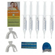 At Home Professional Teeth Whitening Kit 44% Carbamide Peroxide with 5 Large Syringes of Made in USA Gel 5 Pcs. 5cc