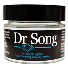 Dr chanson All Natural Charcoal Blanchiment des dents et des dents Gum poudre de noix de coco charbon actif