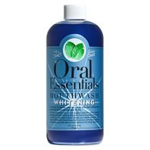 Essentials Oral Blanchiment des dents Mouthwash 16 Oz. Pour une utilisation quotidienne Sans Sensibilité: Dentiste Formulé &