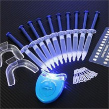 EHM ALTA AURA GLOWZ Teeth Whitening Kit (10) ALTA AURA Gels (2) Trays (1) AURA BLUE White LED Light