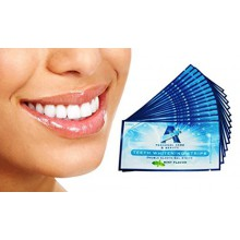 Professional Strength Teeth Whitening Strips 28 Count - 14 Day Supply + Bonus Shade Guide