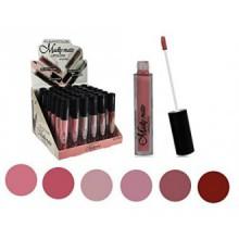 Ensemble de 6 couleurs Madly MATTE Lipgloss Bold & Vivid Couleur Matte Nombre Lipgloss Set 1