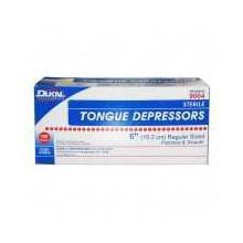 "Tongue Depressors, Sterile, Adult, Wood, 6""x0.6875"", 100/BX"