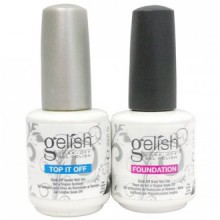 Gelish Duo Top It Off + Foundation Base Coat - 15mL (For UV/LED Gel Nail Polish)