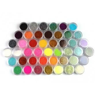 45 Couleurs Nail Art Make Up Body Glitter Shimmer Powder Dust Décoration