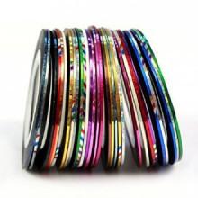 Sannysis 30 Rolls del color del trazado de calidad de la cinta del arte del clavo de la decoración etiqueta engomada