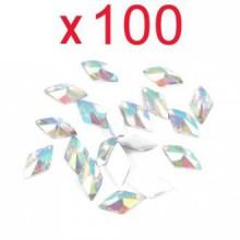 Alors Colorful Gems acryliques Rhombus Flat Back Strass Flatback Beauté de Nail Art