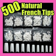 500 blanc faux ongles français Art Conseils Uv Acrylique 064