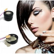 Chrome Mirror Nail poudre avec Shimmer lisse brillant Glitter Effet Pigment Nail Art par Pinky Petals (Chrome / Argent)