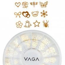 120 Métal Or Manucure Nail Art Roue Gems Décorations dans 12 Designs de Cheeky®