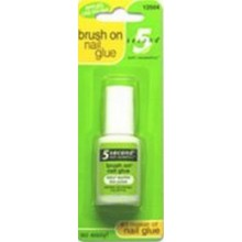 5 second Brush On Nail Glue 6g (4-Pack)
