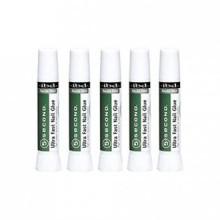 IBD 5 Second Ultra Fast Nail Glue Set of 5 Tubes - .07oz each