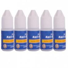 CITY 5 Pcs 3g Bottle Acrylic Nail Art Glue Tips Rhinestones Manicure Tools