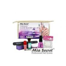 Clear Builder Gel Kit: Primer, Clear Builder Gel, Nail Glue, Ultra Gloss Top Coat, 20 Nail Tips, Nail Brush, Emery Block,