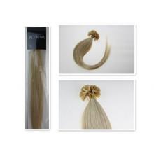 16''Nail U Tip Pre-Bonded Keratin Glue Human Natural Hair Extensions 100S 40G(613 Light Blonde)