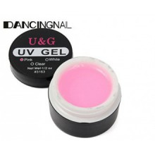 Color:Pink ,Nail Art 3 Colors UV Gel Extension Builder Glue White Pink Clear Manicure by GokuStore