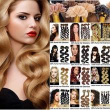 Remeehi Nail U Tip Pre-Bonded Keratin Glue Human Natural Curly Brazilian Vrigin Hair Extensions 0.7g/s 100S 15 Inch 613