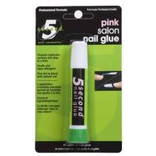 5 Second Nail Salon Nail Glue, Pink, 2-Gram