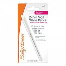Sally Hansen 2-in-1 Nail White Pencil with Cuticle Pusher - 0.03 oz