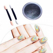 AMA(TM) 1g/Box Nail Glitter Powder Shinning Chrome Nail Mirror Powder Makeup Art DIY (Silver)