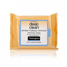 Neutrogena Deep Clean Makeup Removers, Makeup Remover Cleansing Wipes, 25-Count (Pack of 6)