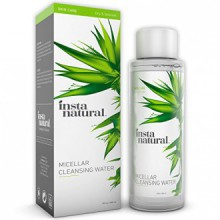 InstaNatural Micellar Water - Gentle Nonrinse Facial Cleansing & Simple Makeup Remover - Natural Skin Care Solution for