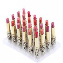 Abody 12 couleurs 24pcs imprimé léopard rouge à lèvres hydratant Baume à Lèvres Set Imperméable Long Lasting
