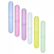 Bluecell Pack of 6 Different Color Plastic Toothbrush Case/ Holder for Daily and Travel Use