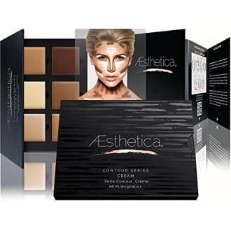 Aesthetica Cosmetics Cream Contour and Highlighting Makeup Kit - Contouring Foundation / Concealer Palette - Vegan, Cruelty