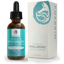 Hyaluronic Acid Serum - Pure Hyaluronic Acid Serum with Vitamin C - Natural Ingredients Green Tea, Vitamin E, Jojoba Oil &