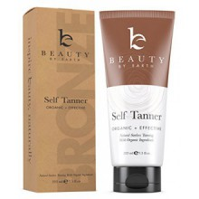 Self Tanner - Organic & Natural Sunless Tanning Lotion for Best Bronzer and Golden Tan - Dye-Free Alternative to Spray For