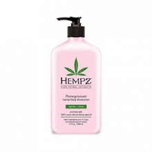 Hempz Herbal Body Moisturizer, Light Pink, Pomegranate, 17 Fluid Ounce