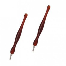 2 Pack Nail Art Pratique Outils Pédicure cuticules Trimmer Dead Skin Callus Removal Fork Brown