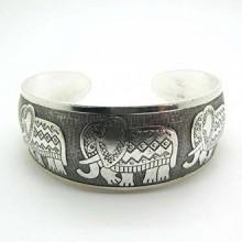 JETTINGBUY Totem Bangle Tibetan silver, Style 2