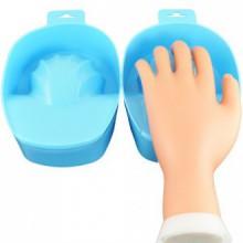 Beauties Factory 2x Blue Nail Art Soak Bowl Manicure Soak-Off Hand Spa Use