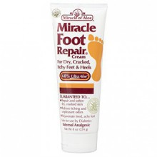 Miracle of Aloe Miracle Foot Repair Cream, As Seen On TV, 8 Oz