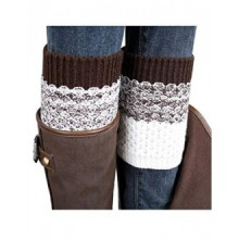 OVERMAL 2016 Jacquard Knitted Leg Warmers Socks Boot Cover