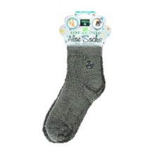 EARTH THERAPEUTICS SOCKS, ALOE infusé, GRIS, PAIRE