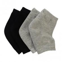 Makhry 2 Paires gel silicone hydratantes Chaussettes à talon pour Hard Dry peau craquelée bout ouvert Comfy Recovery Socks Day N