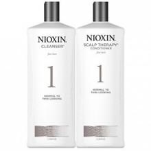 Nioxin Sistema 1 Limpiador y Terapia cuero DUO Conjunto (33,8 oz) cada uno