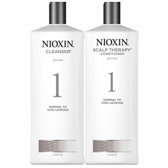 Nioxin System 1 Cleanser & Scalp Therapy DUO Set (33.8oz) each