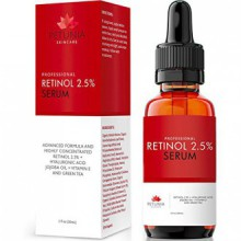Best Retinol Serum 2.5% with Hyaluronic Acid + Jojoba Oil + Vitamin E and Green Tea for the Face - Natural & Organic - Age