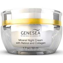 Genesea Hydrating Mineral Night Cream with 3% Retinol & Collagen - Featuring Time-released Amino Acids & Antioxidants