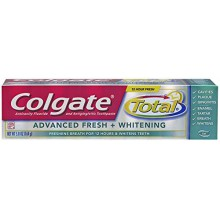 Colgate Total Advanced Fresh + Whitening Gel Toothpaste, 5.8 Ounce (Pack of 2)