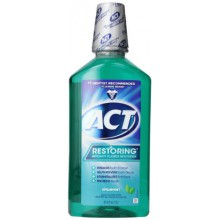 ACT Restoring Anti Cavity Fluoride Mouthwash Spearmint, 33.8 Ounce Bottles (Pack of 3)