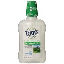 Tom du Maine Long Lasting Wicked frais Refroidir Montagne Mint Mouth Wash, 16 bouteilles Ounce, paquet de 6